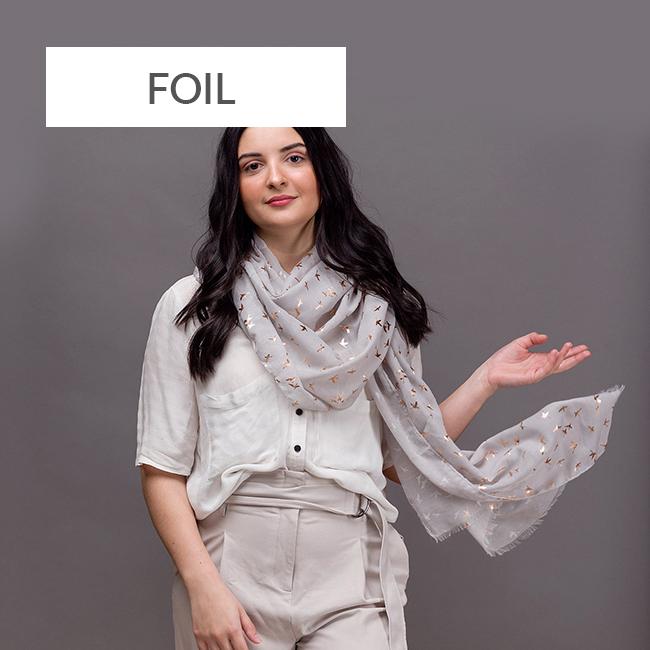 Foil scarves