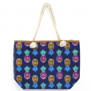 Colourful Pineapple Rope Bag Blue