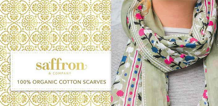 Saffron & Co organic cotton scarves